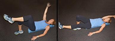 Mulher a fazer exercício decúbito dorsal | Hérnia discal | Holmes Place