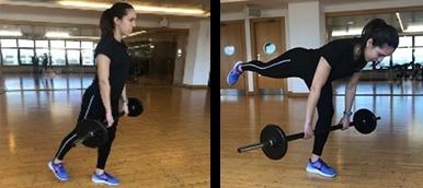 Rapariga a praticar Dead Lift, exercício de fitness para tonificar membros inferiores | Holmes Place