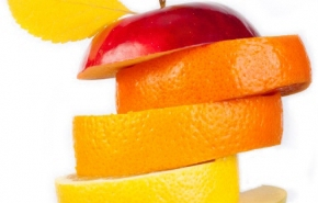 stacked fruit slices