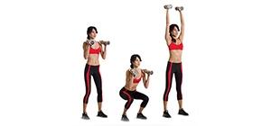 agachamento e shoulder press