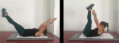 Mulher a fazer o exercício V-Up | Barriga Lisa | Holmes Place