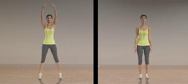 Mulher a fazer jumping jacks | Energia matinal | Holmes Place