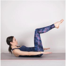 90 degree knee abs yoga 2