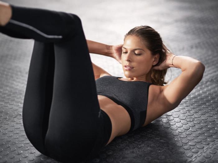 Workout Übungen Körperhaltung Crunches