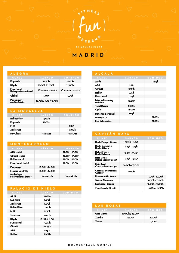 Fitness Fun Weekend Madrid | Gimnasio Holmes Place