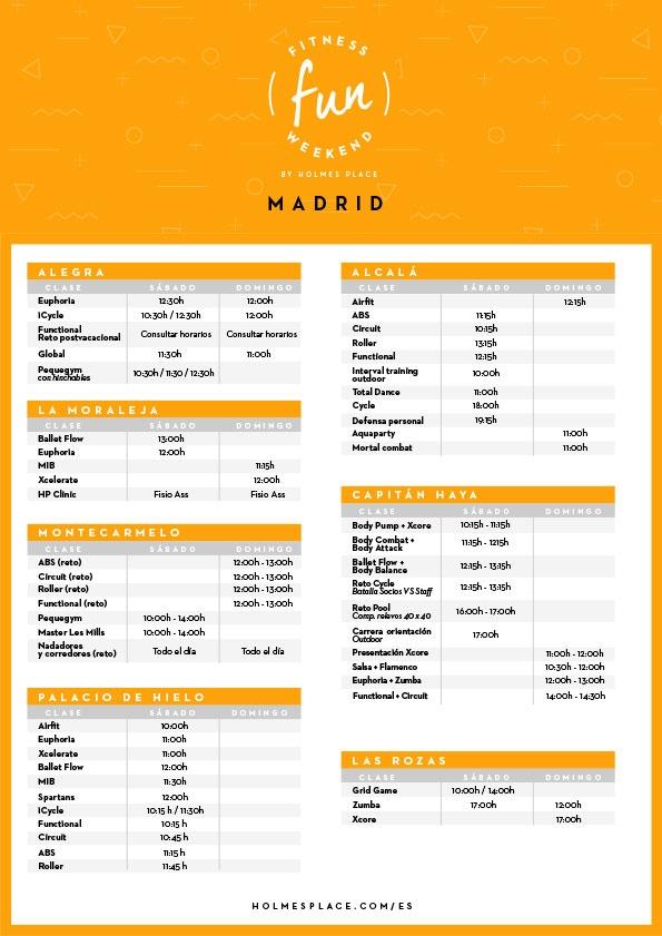 Fitness Fun Weekend Madrid | Gimnasio Holmes Place