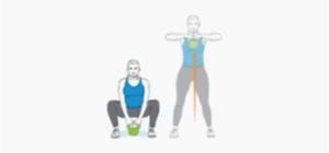 Squat e Upright   Exercícios em casa para mulheres