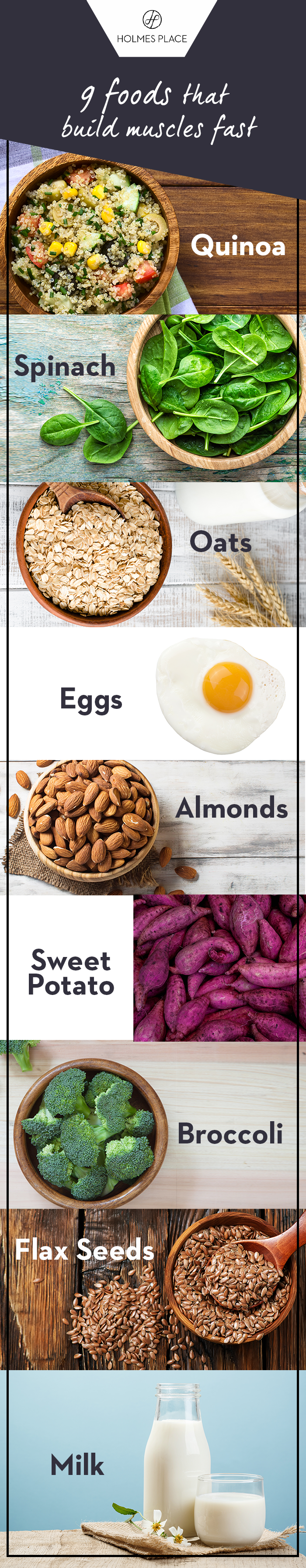 Holmes Place | 9 foods that build muscles fast