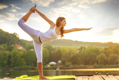 Workout Sommer Hitze Yoga Outdoor
