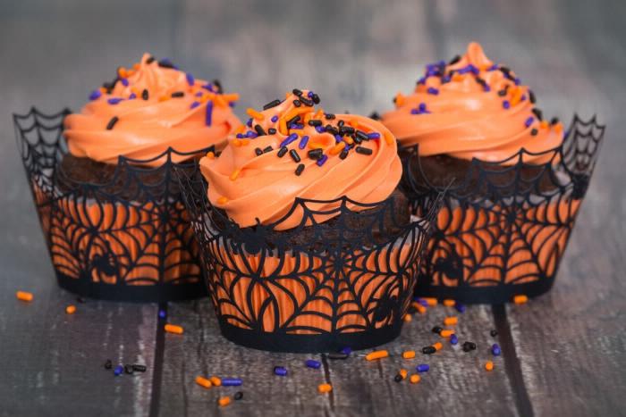 Gesunde Halloween Cupcakes
