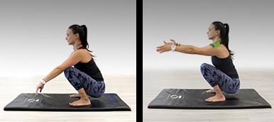 Mulher a fazer um squat movement | Energia matinal | Holmes Place