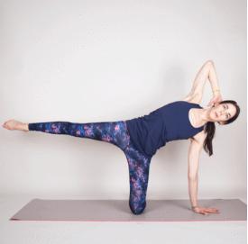 90 degree knee abs yoga 1