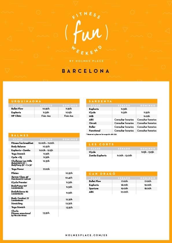 Fitness Fun Weekend Barcelona | Gimnasio Holmes Place