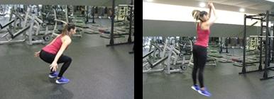 Mulher a fazer Squat Jump - Agachamento | Fitness | Holmes Place