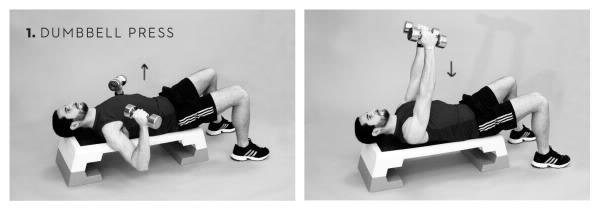 Workout Brust Kurzhantel Drücken