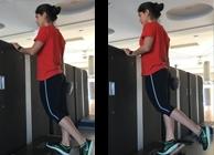 Mulher a fazer calf raise | Musculação | Holmes Place