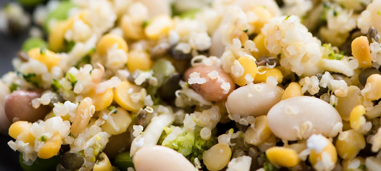Holmes Place | quinoa with beans and corn