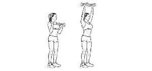 Shoulder press   Exercícios em casa para mulheres