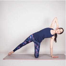 Kneeling Side kick yoga 2