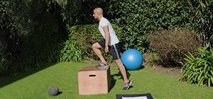 step up treino pernas