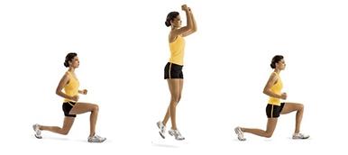 exercício de fitness Jump Lunge | Holmes Place
