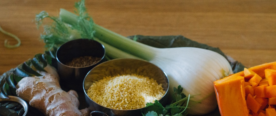 Ayurvedic cleanse detox Millet recipe indicia spices ingredients pumpkin ginger fennel Holmes Place