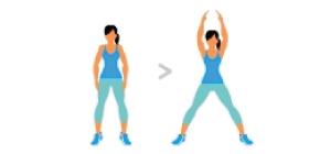 Jumping Jacks  Exercícios em casa mulheres