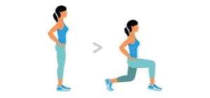 Lunge Unilateral   Exercícios em casa mulheres