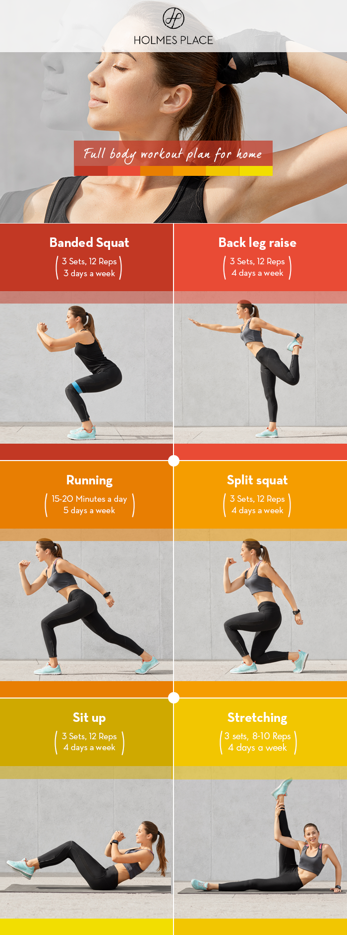 Holmes Place | Full body workout plan for home