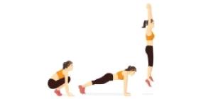 Half Burpee   Exercícios em casa mulheres