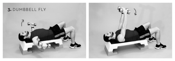 Workout Brust Kurzhantel Heben