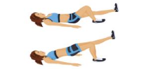 Glute Bridge 1 apoio   Exercícios em casa para mulheres