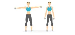 Lateral Raises   Exercícios em casa mulheres