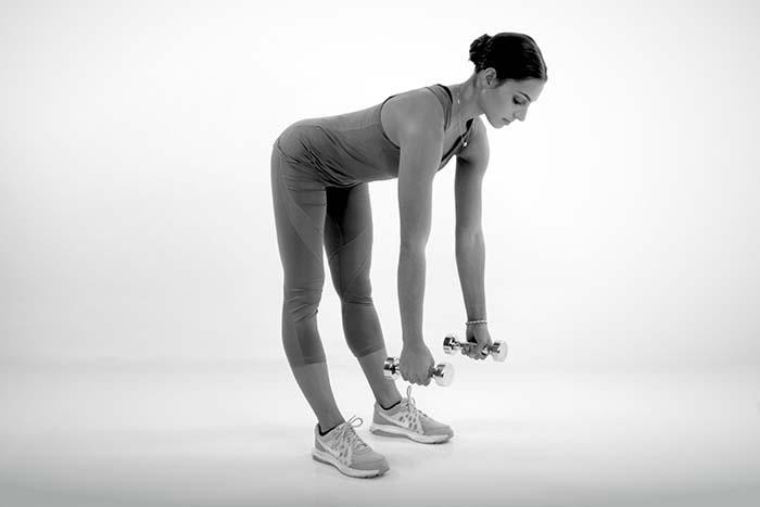 Hochzeitskleid Workout Fitness Schlank Figur Kurzhantel Deadlift