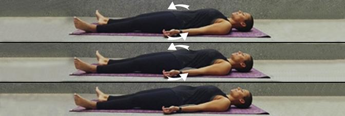 mulher a fazer retroversão da bacia deitada | Hérnia Discal | Holmes Place