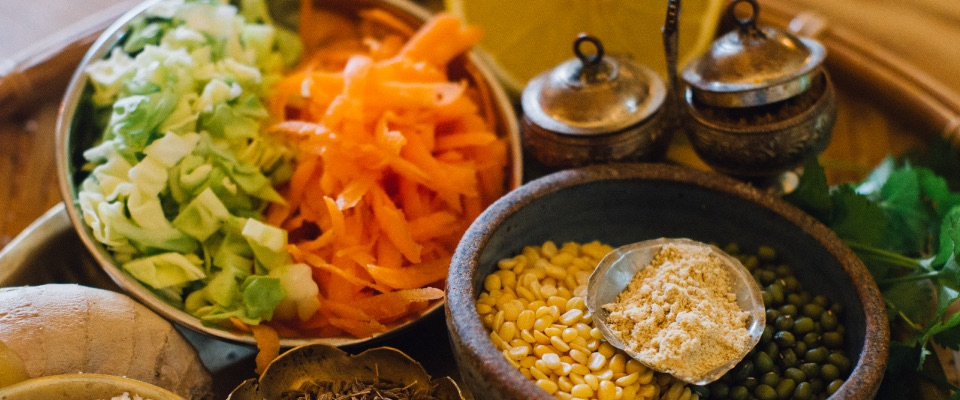 carrot cabbage playa side dish ayurvedic cleanse soothing moong dal recipe