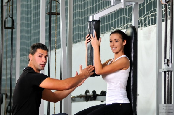 personal trainer inside