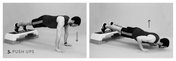 Workout Brust Kurzhantel Liegestütz