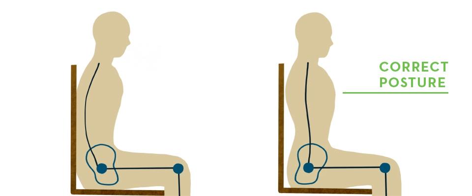 good posture sitting