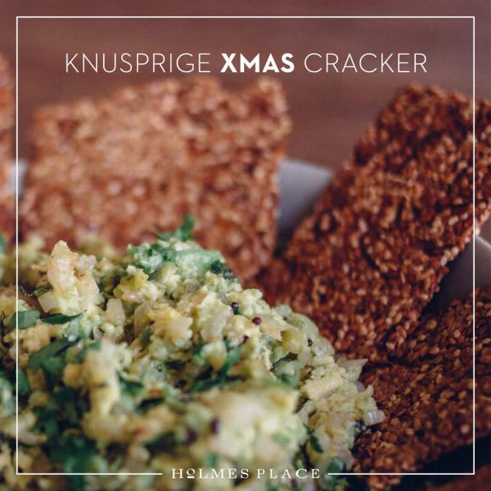 Gesundes Rezept Weihnachten Avocado Cracker