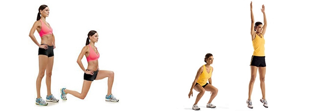 lunges e power squat
