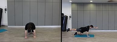 Homem a fazer o exercício de 4 apoios | Hérnia discal | Holmes Place