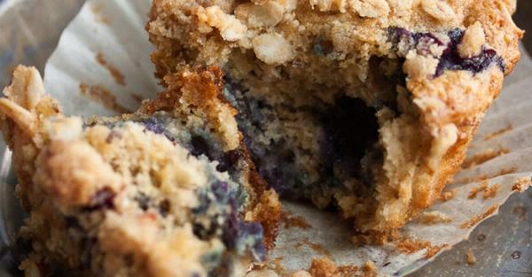 Blaubeer Hafer Muffin Rezept Banner