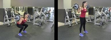 Mulher a fazer Squat - Agachamento | Fitness | Holmes Place