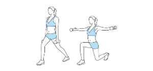 Lunge e Lateral Raises   Exercícios em casa para mulheres